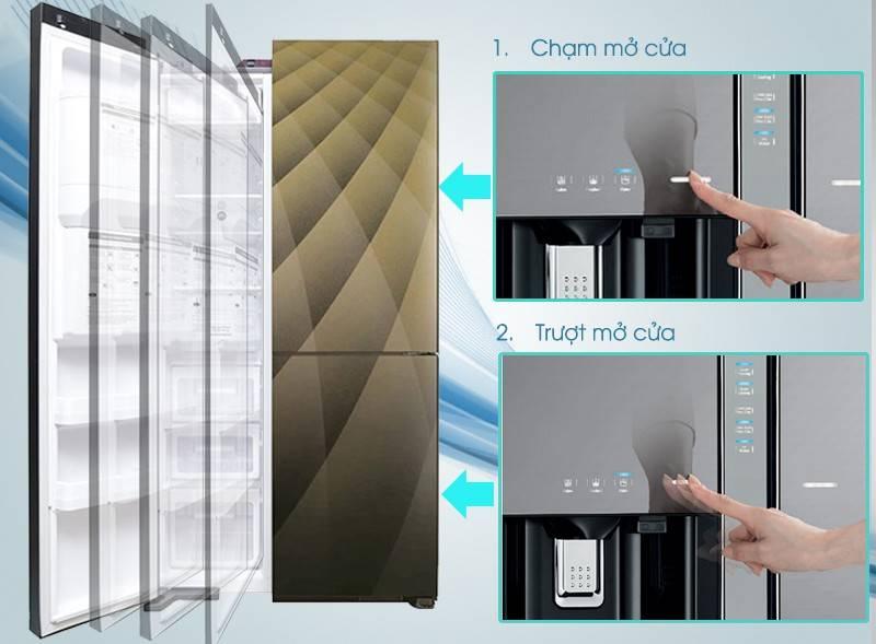 Bên trong tủ lạnh Side by Side của Hitachi