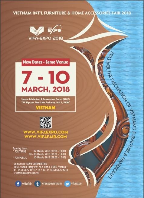 Hội chợ quốc tế đồ gỗ & mỹ nghệ xuất khẩu Việt Nam Vifa-Expo 2018