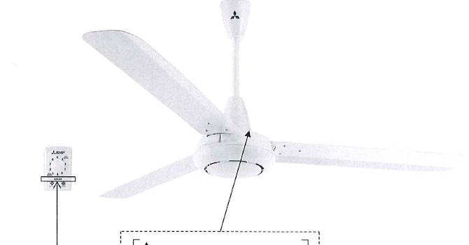 Quạt trần Mitsubishi Electric có nguy cơ tuột khỏi móc treo