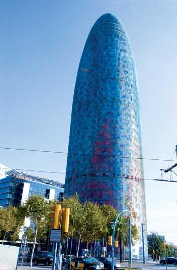 Toà tháp Agbar biểu tượng mới của Barcelona
