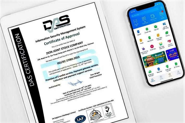 ZaloPay vừa đạt chứng chỉ an ninh thông tin quốc tế ISO 27001